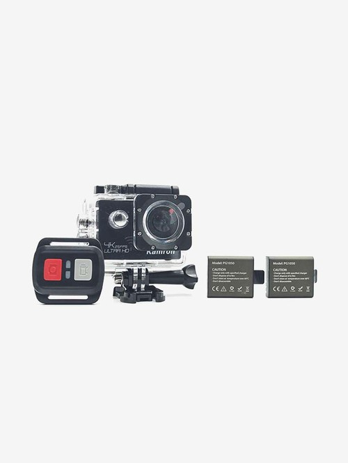 Kamron K6 Plus 4K Ultra HD 16MP WiFi Sports and Action Camera with Accessories  Black