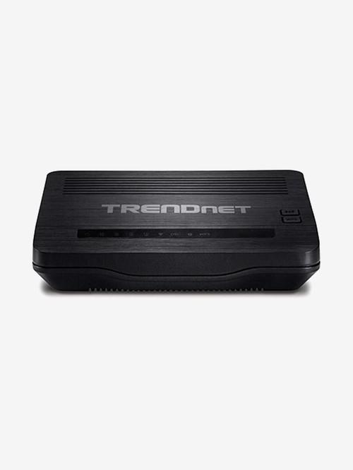 TRENDnet N150 TEW 721BRM 150MBps Wireless ADSL 2+ Modem Router  Black  TRENDnet Electronics TATA CLIQ