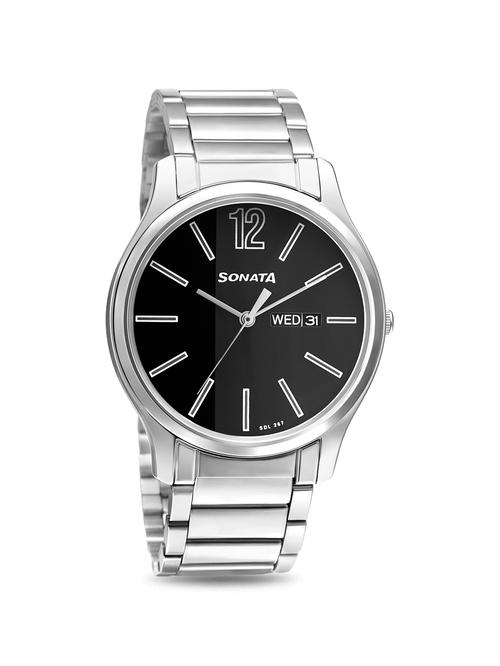 Sonata 77082SM03W Essentials Analog Watch for Men