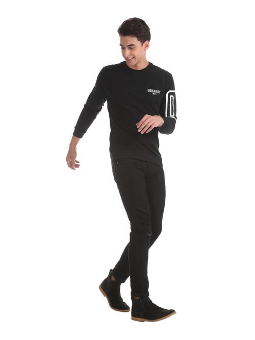 Ed Hardy Black Regular Fit Sweatshirt