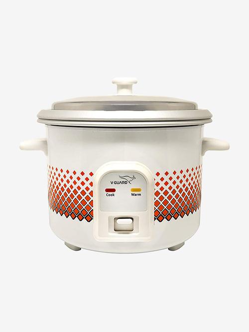 V-Guard VCRC 1.8L 700W Electric Rice Cooker (White)