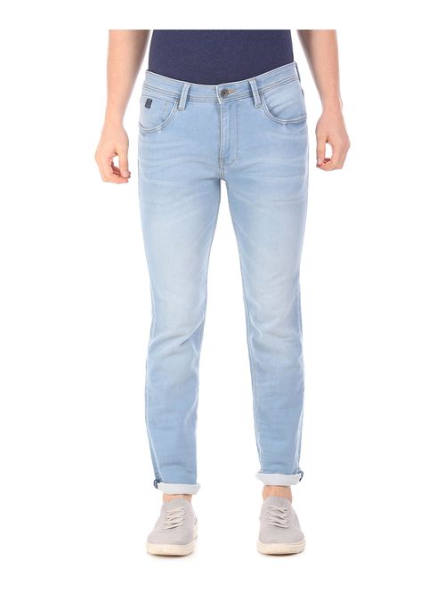 Ed Hardy Blue Heavily Washed Jeans