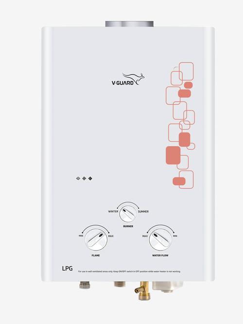 V-Guard Brio 5L 10000W Gas Instant Water Heater (White)