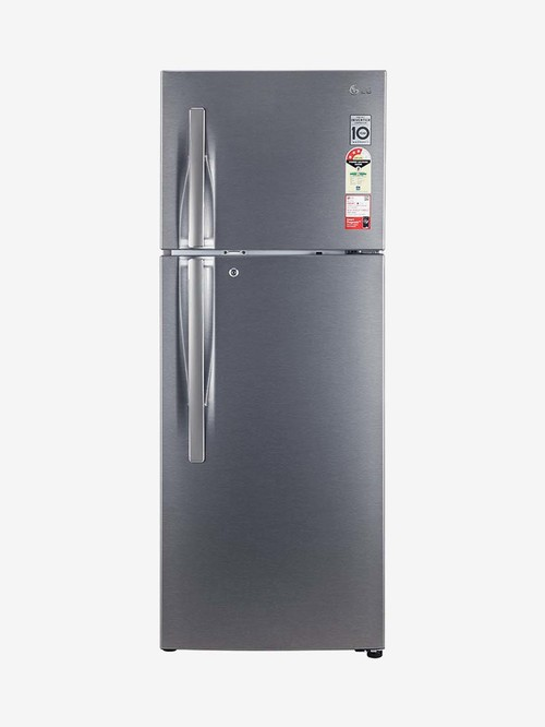 LG 284 L Inverter 3 Star Frost Free Convertible Double Door Refrigerator  Dazzle Steel, GL T302RDSX