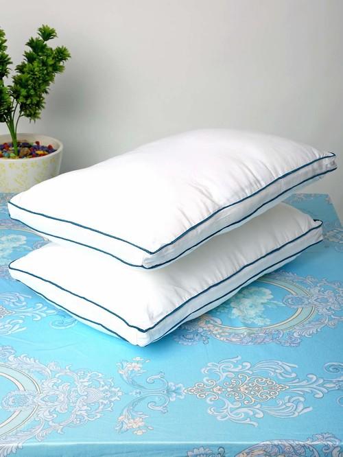 HOSTA HOMES Ultra Soft White Microfibre Pillows   Set of 2
