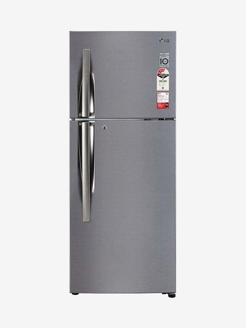LG 260 L Inverter 3 Star Frost Free Double Door Refrigerator  Shiny Steel, GL I292RPZX