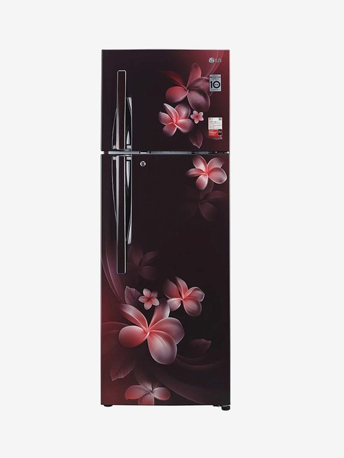 LG 308 L Inverter 3 Star Frost Free Double Door Refrigerator  Scarlet Plumeria, GL T322RSPX