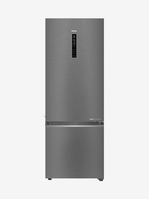 Haier 346 L Inverter 3 Star Double Door 14 in 1 Convertible Refrigerator  Silver, HRB 3664BS E