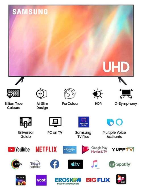 Samsung 108 cm (43 Inches) Smart 4K Ultra HD LED TV Crystal Pro UA43AUE70AKLXL (2021 Model, Black)