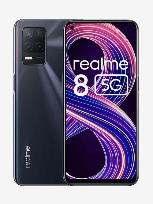 realme 8 64 GB (Supersonic Black) 4 GB RAM, Dual SIM 5G