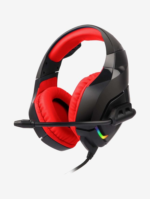 Zebronics Zeb Rush Wired R GB Gaming Headset with Mic  Red
