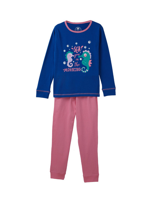 Cub McPaws Kids Blue & Pink Printed Top with Joggers