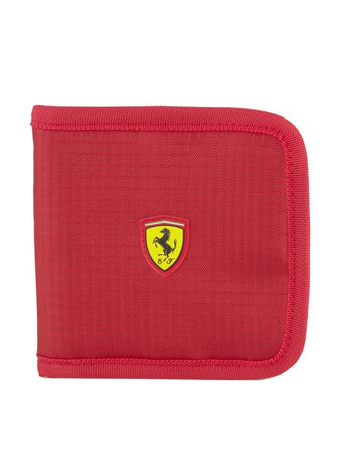 Puma Ferrari Style Men s Red Polyester Zip Around Wallet for Men
