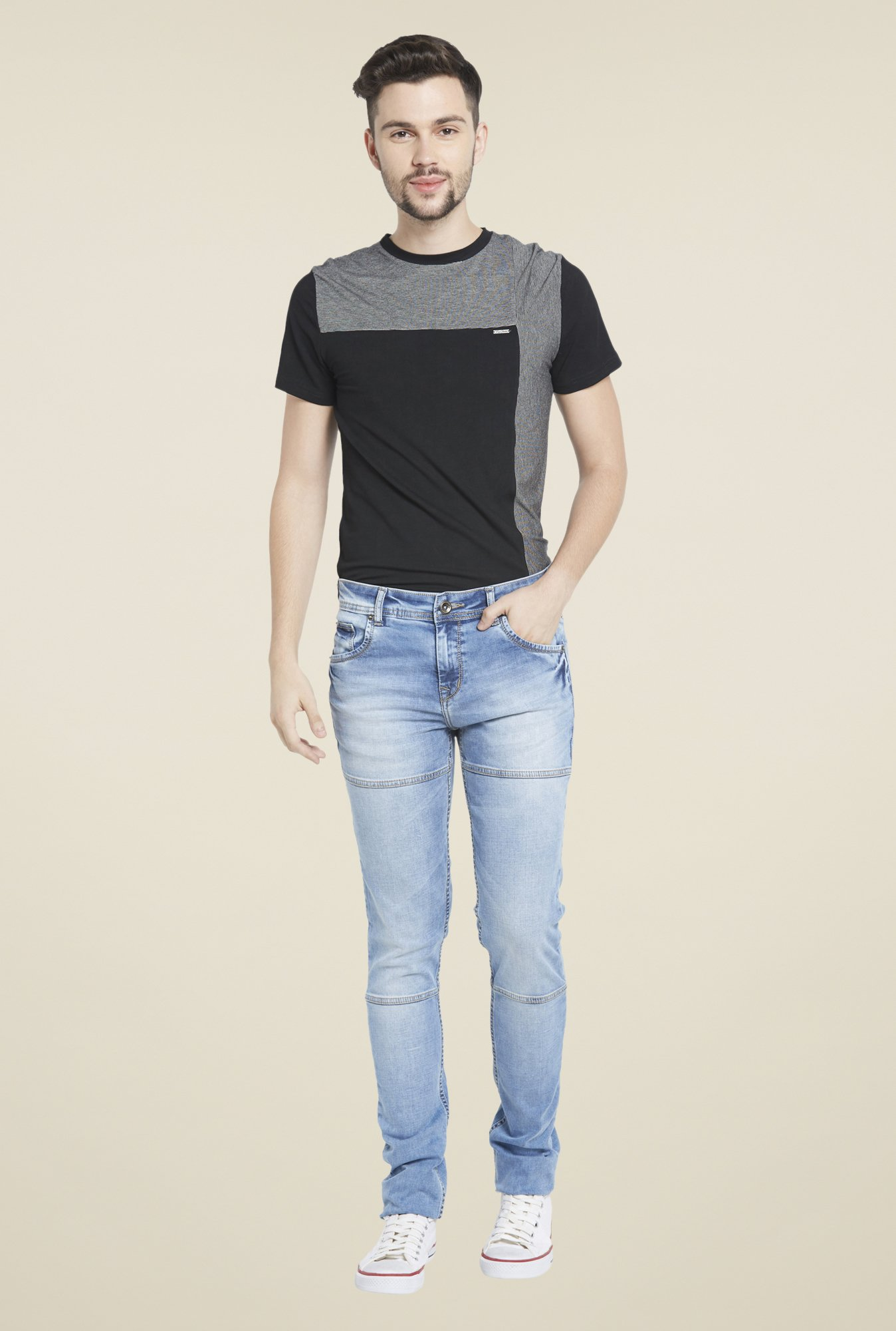 TataCliq: Globus Blue Heavily Washed Jeans – Size 36 @ Rs.199/- (90% OFF)