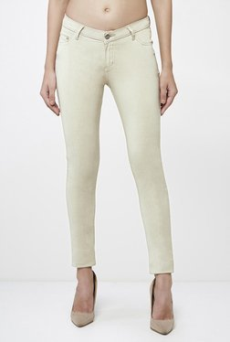 AND Beige Skinny Fit Jeans