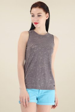 Pepe Jeans Taupe Sleeveless T-Shirt