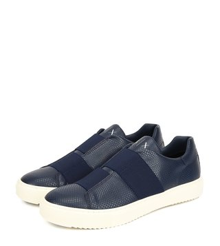 3b70a3deaee3 Armani Exchange Navy Elastic Slip-On Sneakers