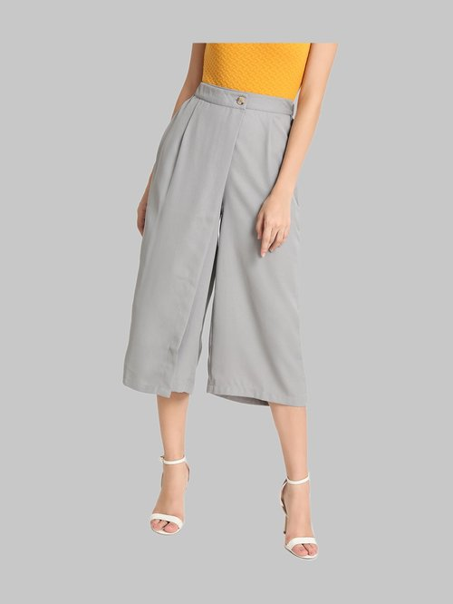 Kazo Grey Pleated Culottes