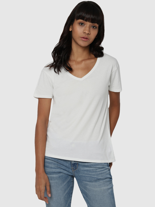 American Eagle Outfitters White Cotton T-Shirt