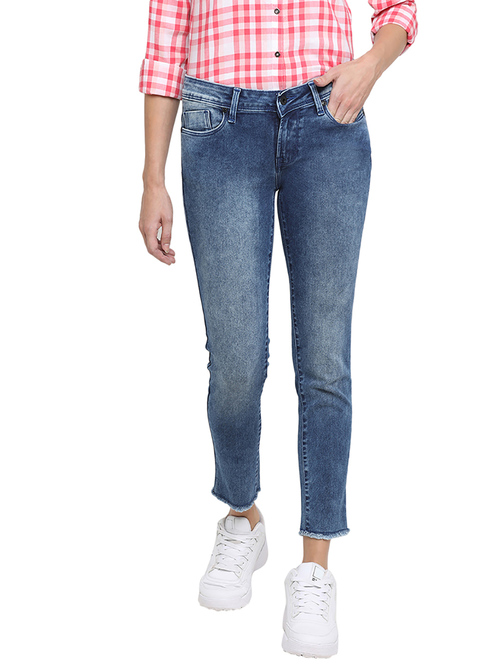 Pepe Jeans Blue Mid Rise Jeans